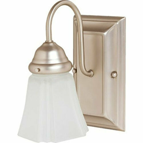 Cordelia 2171-62 One-Light Wall Sconce Satin Nickel Frost Glass NEW
