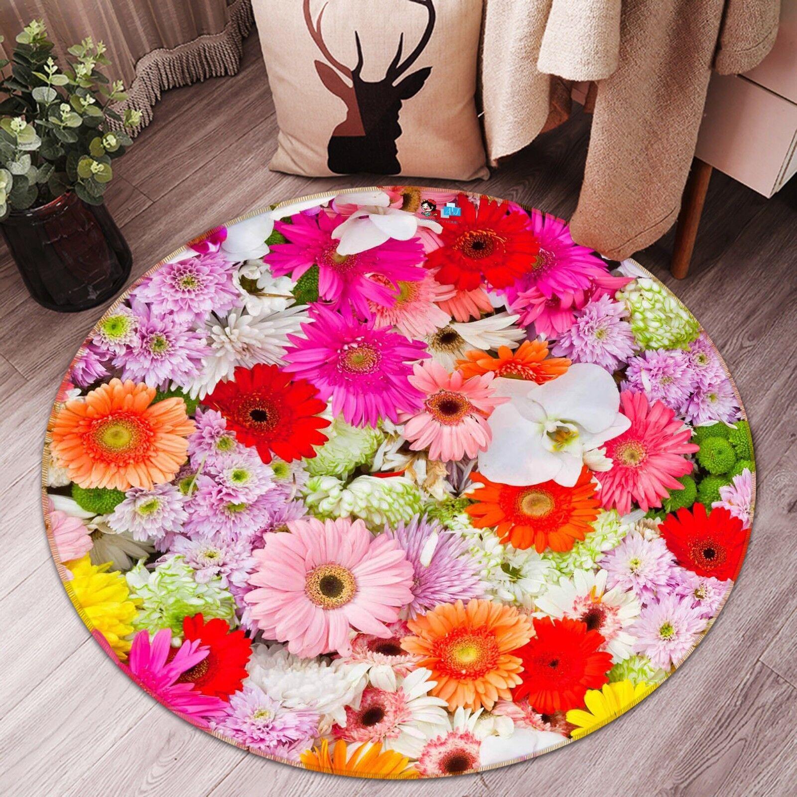 3d FIORI ColoreeeATI 43 antiscivolo tappeto tappetino bagagliaio tappeto rossoondo elegante