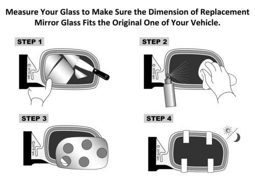 For 91-99 LeSabre Park Avenue Regency Mirror Glass W//O Base Passenger 12503605