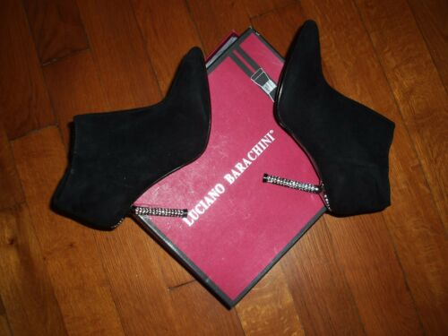 cuir 40 Noires A Barachini P Chaussures Luciano Talons Aiguilles wfPqnZzX