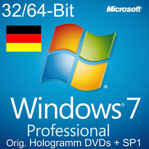 Microsoft-Windows-7-Professional-Vollversion-32-64-Bit-Hologramm-DVDs-SP1-NEU