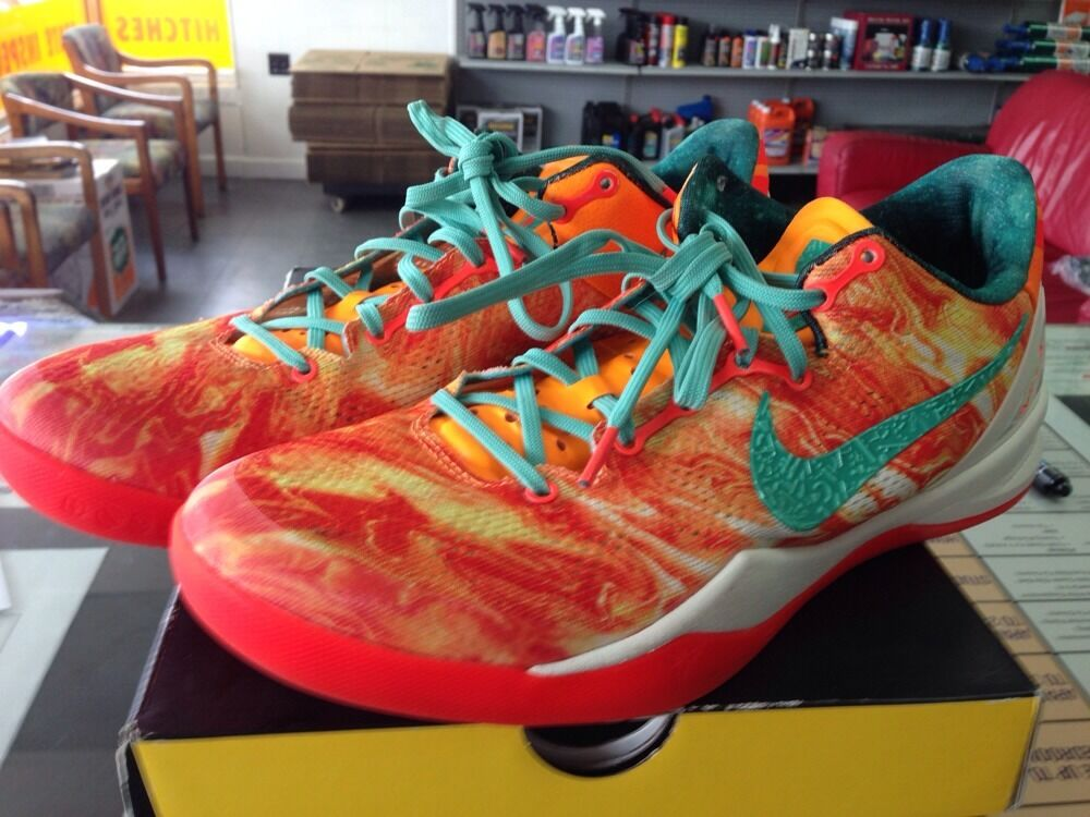 Men's NIKE KOBE SYSTEM 8 VIII All Star Area 72 Citrus SZ 10.5 587553-800