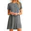 Women-039-s-Casual-Short-Sleeve-Solid-Loose-Tunic-Top-Shirt-Blouse-Dress-Plus-Size thumbnail 8