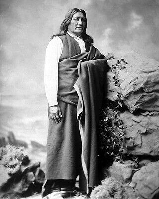 1905 Native American Indian CHIEF IRON TAIL Glossy 8x10 Photo Lakota Sioux Print