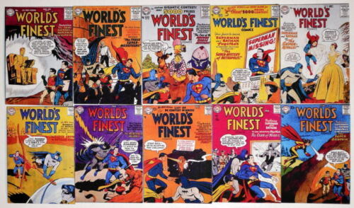 "10 WORLD'S FINEST COMICS 2"" x 3"" COVER MAGNETS World's Finest #8190"