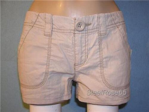 6 NEW Aeropostale Junior Girls Tan Cotton Cargo Shorty Shorts 5