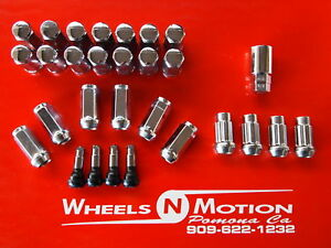 14X1-5-MM-LUG-NUTS-AND-LOCK-KIT-CHROME-CHEVY-24pc-kit