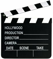 Movie Set Clapboard, Collectible Decor Wooden Party Supplies Accessories Black on sale