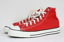 NDS Vintage Mens Converse Chuck Taylor All Star Hi Red Canvas Shoes 11 USA MADE