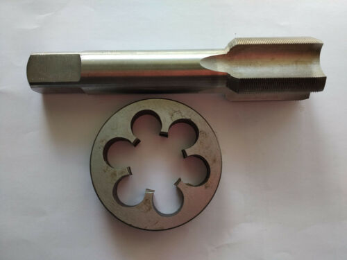 1pc HSS Machine M24 X 1mm Plug Tap and 1pc M24 X 1.0mm Die Threading Tool