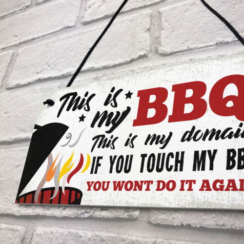 My BBQ Novelty Garden Sign SummerHouse Bar Man Cave Shed Plaque Gift For Him