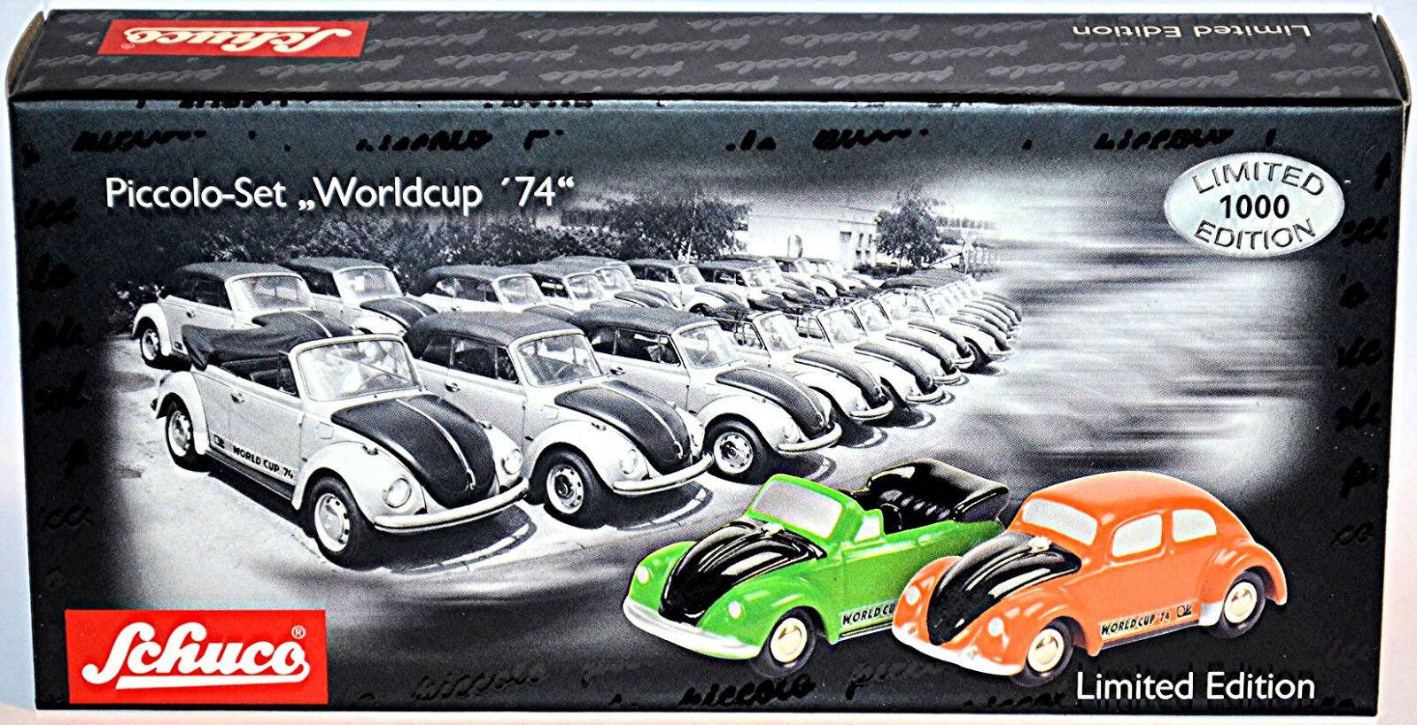 VW Volkswagen Coccinelle Beetle Ligue 74 Set 2 modèles 1 90 SCHUCO PICCOLO 05815