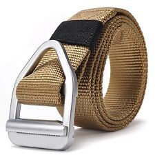 Fairwin Mens Military Style Nylon Webbing Riggers Tactical Web Belt with ... New