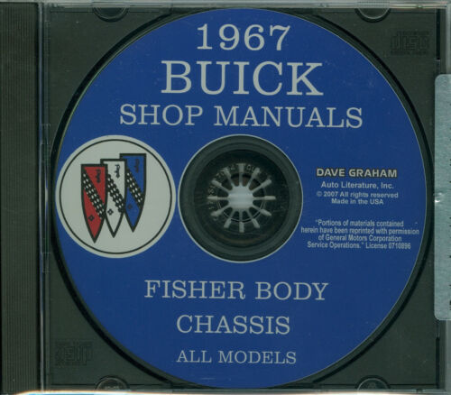 67  BUICK SKYLARK//GS400//SPECIAL SHOP//BODY  MANUAL ON CD