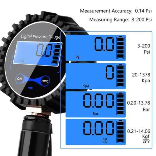Digital Car Tire Pressure Gauge Meter LCD Tyre Inflation Tester Inflator Meter
