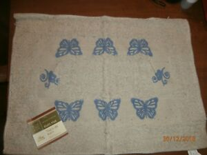 Home-Collection-Bath-Mat-Rug-100-Cotton-15-in-x-21-in-Butterfly