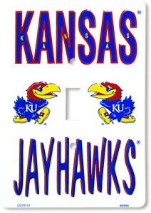 Kansas Jayhawks Switch Plate Light Switch Cover Man Cave FAST USA SHIPPING