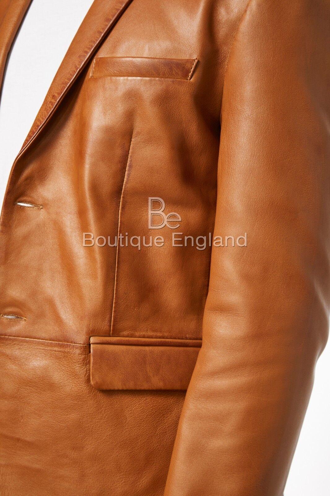 Mens Leather BLAZER TAN Classic Classic Classic ITALIAN TailGoldt Soft 100% REAL LEATHER 3450 | Nutzen Sie Materialien voll aus  6acb1b