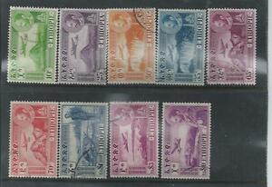 Ethiopia-1947-Airmail-Definitives-Used-set-of-nine-different-values
