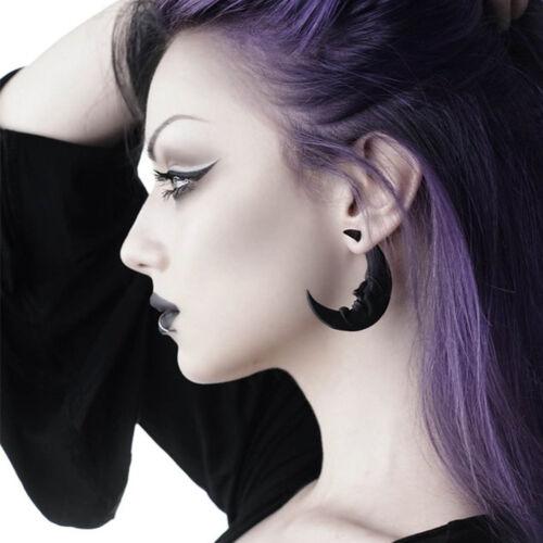Crescent Moon Halbmond Killstar Gothic Goth Ohrstecker Ohrringe Durchzieher