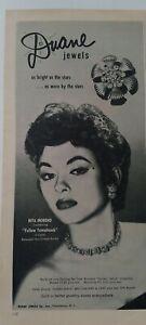 1954-Duane-Joyeria-Collar-Pan-Pendientes-Rita-Moreno-Amarillo-Tomahawk-Star-Ad
