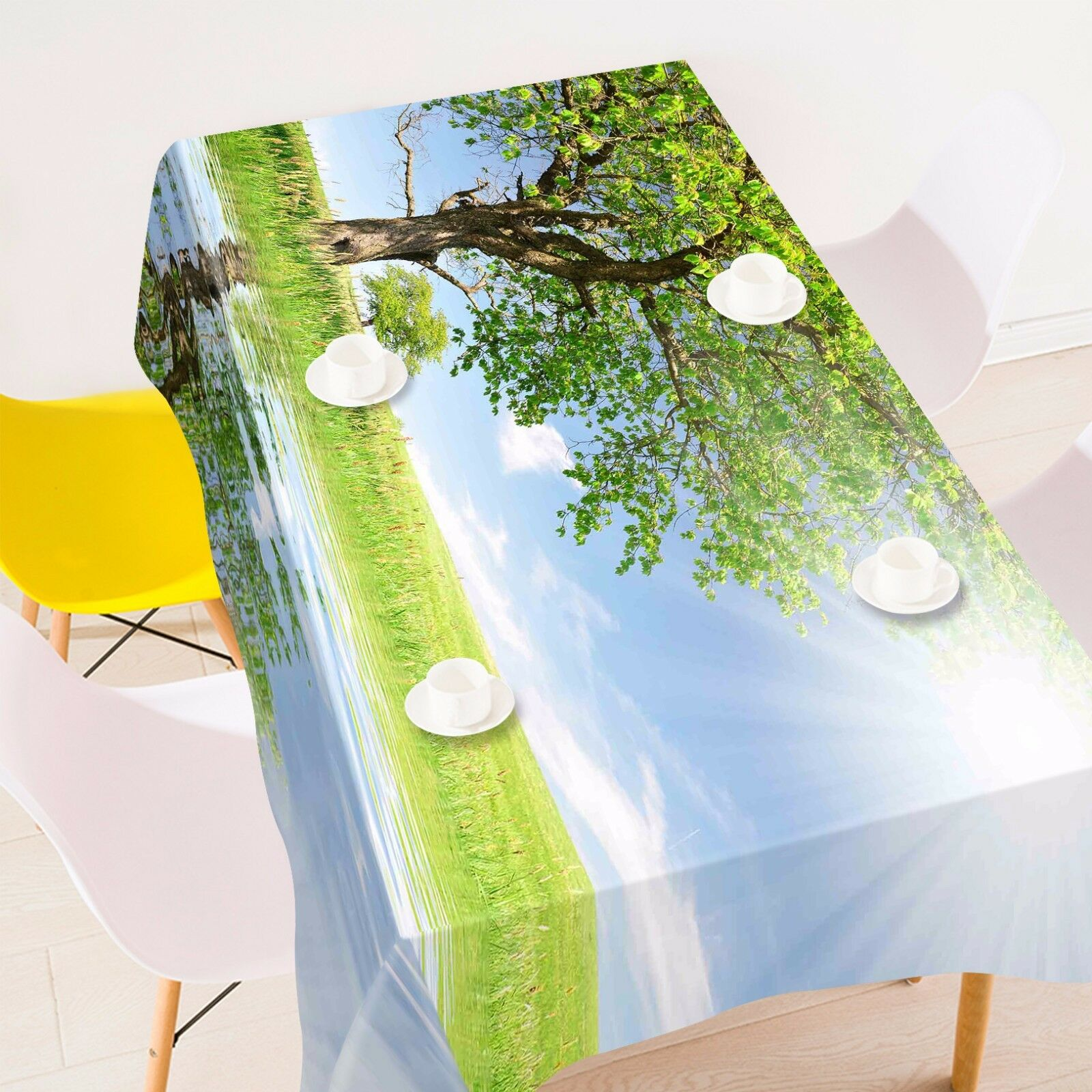 3D Sun tree809 Tablecloth Table Cover Cloth Birthday Party Event AJ WALLPAPER UK