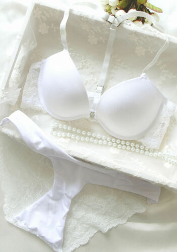 A gorgeous front opening fastening bra and Brazilian knicker set A B C Cup BRA