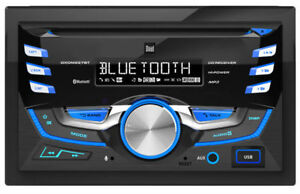 NEW-Dual-DXDM228BT-Double-DIN-Bluetooth-In-Dash-CD-AM-FM-USB-Car-Stereo-Receiver