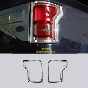 For 2016 17 Ford F150 Chrome Rear Truck Tail Light Cover