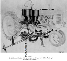 Ih Mccormick Farmall Super C 200 C 280 Runner Planter Side Dresser Owners Manual