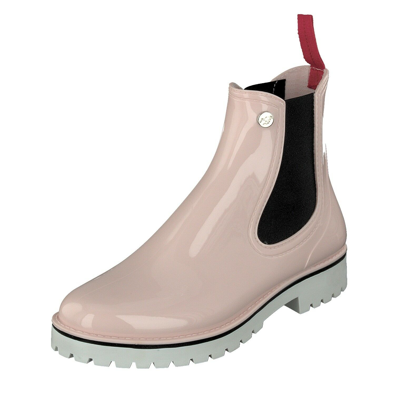 Gosch zapatos Sylt 71025-deike - 508 Zapatos señora goma chelsea impermeable púrpuras