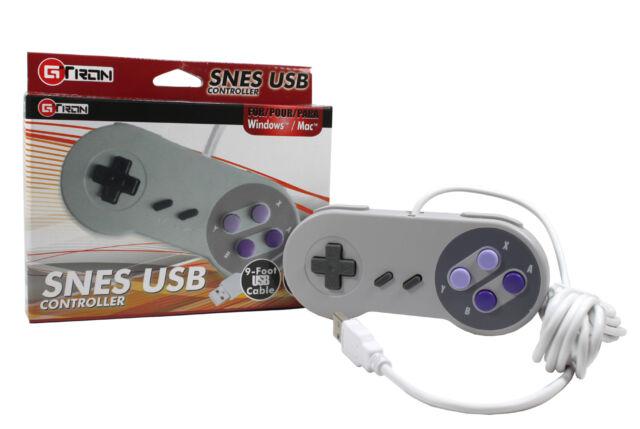 Snes USB Classic Premium Controller Joypad For All PC/MAC Super Nintendo Games