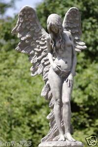 Gartenfigur-Engel-SHEKINA-Steinguss-Gartendeko-Steinfigur-Gartenskulptur-Betong