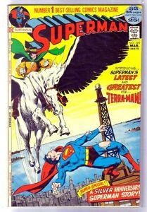 Superman 249 Latest Greatest Foe Terra Man Dc Comic Book Vf Ebay