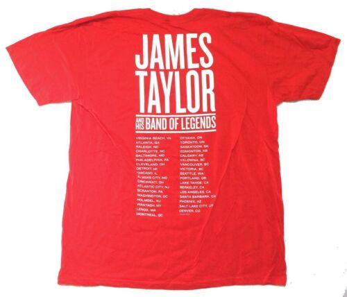James Taylor tournée d/'été 2008 Rouge T Shirt New Official Band of legends