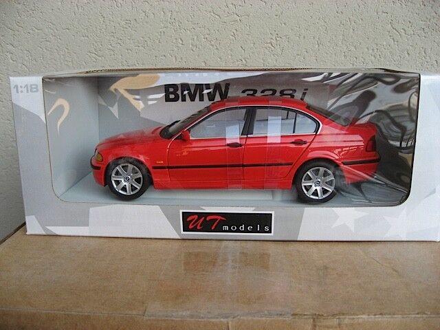 UT 1 18 1998 BMW 328i E46 SEDAN rot. VERY RARE. NIB
