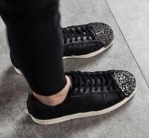 Adidas-Originals-Superstar-80s-3D-Metal-Toe-Women-Shoes-Black-BB2033-Size-5-NEW