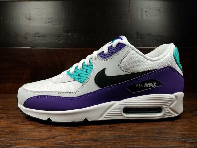 Nike Air Max 90 Essential White HYPER Jade Purple Men Sz 14 Aj1285 103