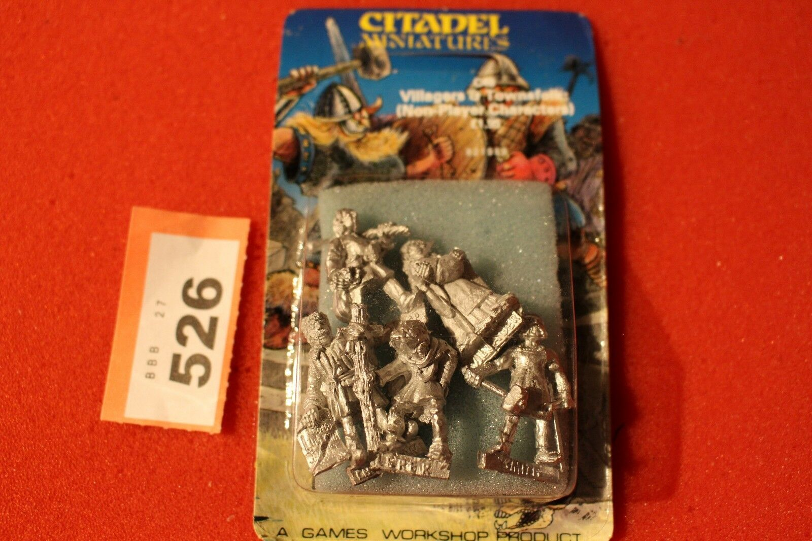 Citadel C46 Villagers Townsfolk 5x Metal Figures Games Workshop Warhammer 80s R