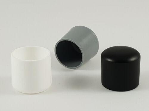 Kappen für Türstopper Stäbe runde Stuhlbeine Gewinde PE PVC Rohre
