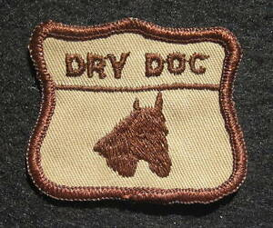DRY-DOC-QUARTER-HORSE-EMBROIDERED-SEW-ON-PATCH-UNIFORM-EQUINE-TAN-BROWN