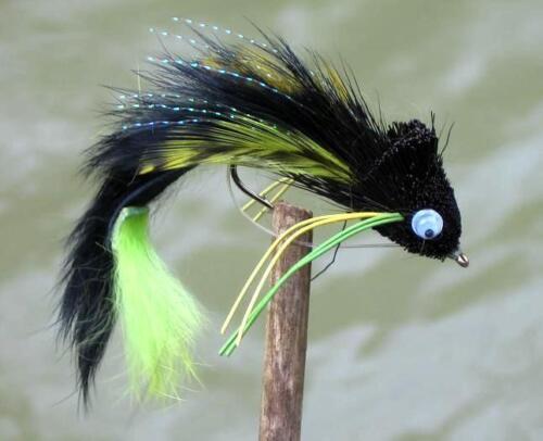 Gilchrist Fliegen Fliegenfischen Water Dog Streamer 3 Stück einer Farbe.