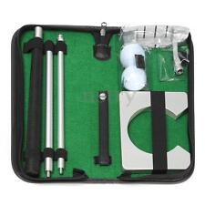 PORTABLE TRAVEL INDOOR CLUB BALL PUTTER TRAINING SET GOLF PUTTING PRACTICE KIT