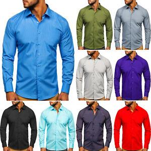 Langarmhemd Shirt Hemd Freizeithemd Klassisch Casual Herren Mix BOLF 2B2 Hemden