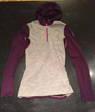 ICEBREAKER Bodyfit 200 Oasis Merino Wool 1/4 Zipper Shirt X-SMALL Hooded I93