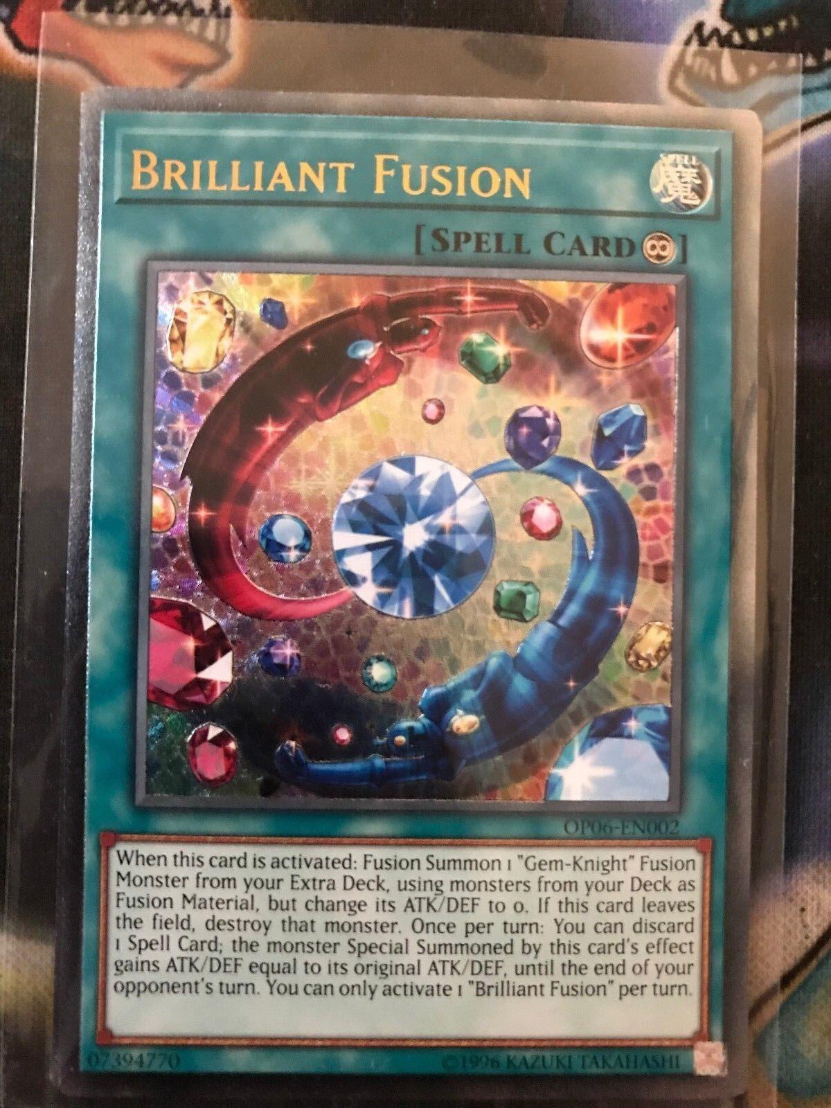 Yu-Gi-Oh  Brilliant Fusion op06-en002  Ultimate Rare  UK Print