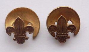 2 X Vintage Boy Scout Small Buttonhole Badges