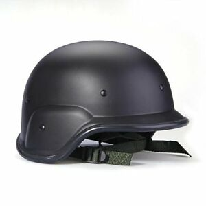 Military-tactical-Swat-helmet-black-protector-straps-adjustable-helmet-DT