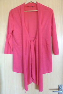Per-Una-Ladies-Cardigan-10-Pink-Summer-Lightweight-Holiday-Cover-Up-M-amp-S-nf