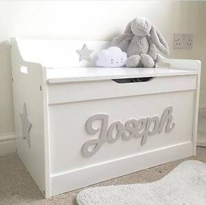 Details About Girlsboys Wooden Personalised Childrens Toy Boxstorage Boxchest Nursery